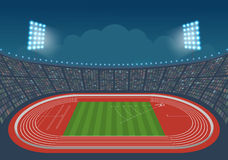 Athletics stadium for competitions. Royalty Free Stock Photos