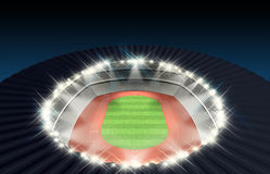Athletics Stadium Night Royalty Free Stock Images