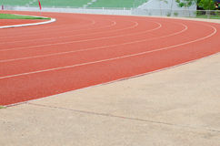 Athletics stadium running track Royalty Free Stock Photography