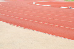 Athletics stadium running track Royalty Free Stock Image