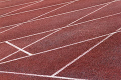 Athletics Stadium Running track curve Stock Photography