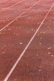 Athletics Stadium Running track curve Stock Image