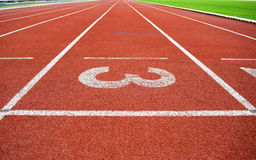 Athletics Stadium Running track number 3 Stock Photography