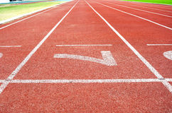Athletics Stadium Running track number 7 Royalty Free Stock Photography