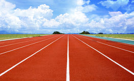 Athletics Stadium Running track rubber standard red color royalty free stock image