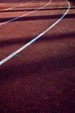 Athletics stadium running track. Stock Photography