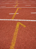 Athletics start Track Lane Stock Photos
