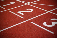 Athletics Start track lanes Royalty Free Stock Photography