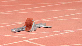 Athletics starting block Royalty Free Stock Photos