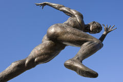 Athletics Statue - Manchester - England Stock Photo