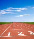 Athletics track Stock Photos