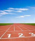Athletics track vector illustration