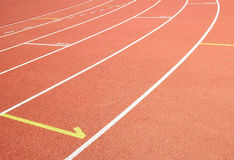 Athletics track. In the Foro Italico sporting centre in Rome, Italy Royalty Free Stock Images