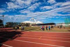 Athletics Track Field Blue Royalty Free Stock Photos