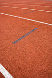 Athletics Track Lane Stock Photo