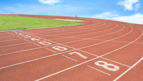 athletics Track Lane Royalty Free Stock Photography