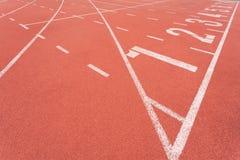 Athletics track lane number eight Royalty Free Stock Photo