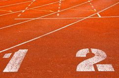 Athletics Track Lane Number Royalty Free Stock Photography