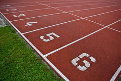 Athletics Track Lane Numbers Stock Photos