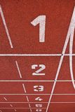 Athletics Track Lane Numbers Royalty Free Stock Photography