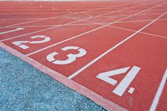 Athletics Track Lane Numbers Stock Images