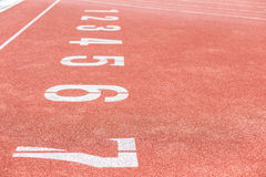 Athletics Track Lane Numbers Royalty Free Stock Image