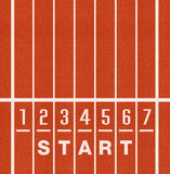 Athletics Track Lane Numbers. Athlete Track or Running sport background Royalty Free Stock Image