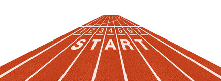 Athletics Track Lane Numbers. Athlete Track or Running sport background Stock Images