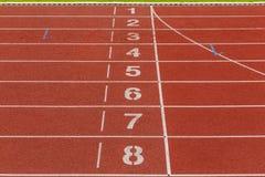 Athletics Track Lane Numbers Stock Photography