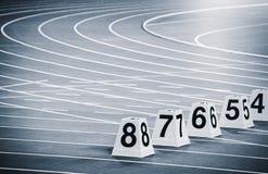 Athletics Track Lane Numbers Stock Image
