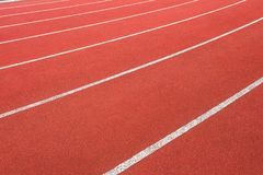 Athletics Track Lanes Closeup Abstract Angle Stock Photos