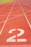 Athletics track number two. Royalty Free Stock Photography