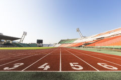 Athletics track Stock Image