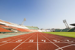 Athletics track Royalty Free Stock Images