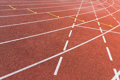 Athletics track Royalty Free Stock Image