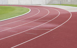 Athletics track. For racing stadium stock image