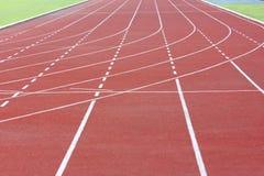 Athletics track in stadium Stock Image