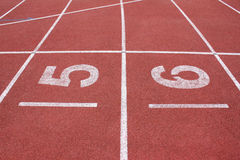 Athletics track in stadium Royalty Free Stock Images