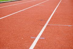 Athletics-tracks. To run and jump in competition Stock Photos
