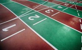 Athletics tracks Royalty Free Stock Image
