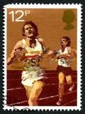 Athletics UK Postage Stamp Royalty Free Stock Photo