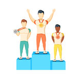 Athletics Winner Podium Athletes Royalty Free Stock Image