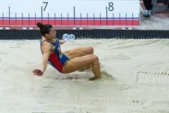 Athletics - Woman Long Jump,  SPANOVIC Ivana Royalty Free Stock Photos