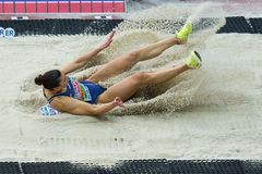 Athletics - Woman Long Jump,  SPANOVIC Ivana Stock Photo
