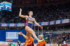 Athletics - Woman Long Jump,  SPANOVIC Ivana Stock Photos