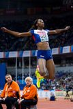 Athletics - Woman Long Jump, UGEN Lorraine Stock Photo