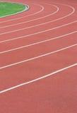 Athletikspur Stockfotos