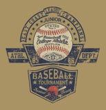 Athletische Abteilung des Weinlese-Baseballmeister-Colleges Lizenzfreie Stockfotos