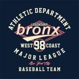 Athletische Abteilung legendärer Bronx vektor abbildung