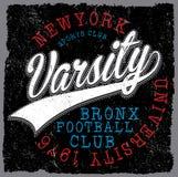 Athletische Abteilung New York; Uni-Sportvektordruck und -Uni lizenzfreie abbildung